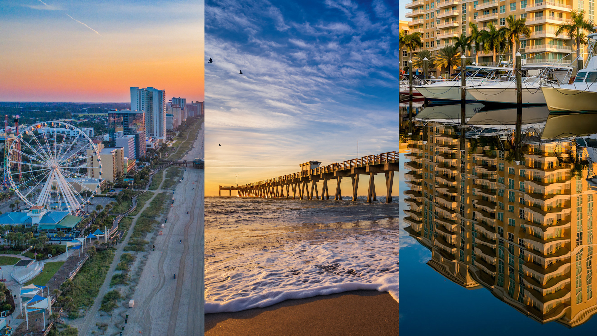 Retirement locales in Florida and South Carolina